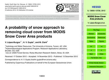 A Probability of Snow Approach to Removi... by López-burgos, V.