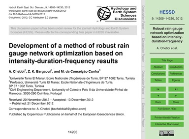 Development of a Method of Robust Rain G... by Chebbi, A.