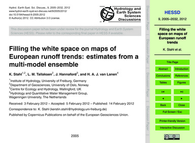 Filling the White Space on Maps of Europ... by Stahl, K.