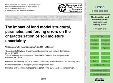 The Impact of Land Model Structural, Par... by Maggioni, V.