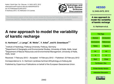 A New Approach to Model the Variability ... by Hartmann, A.