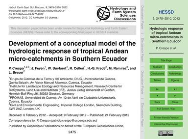 Development of a Conceptual Model of the... by Crespo, P.