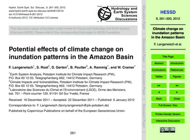 Potential Effects of Climate Change on I... by Langerwisch, F.
