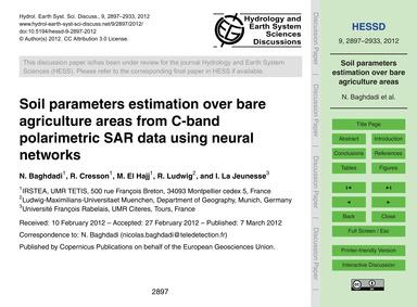 Soil Parameters Estimation Over Bare Agr... by Baghdadi, N.