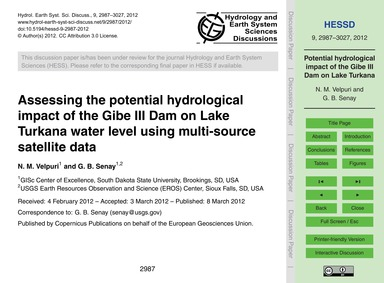 Assessing the Potential Hydrological Imp... by Velpuri, N. M.
