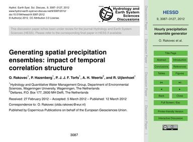 Generating Spatial Precipitation Ensembl... by Rakovec, O.