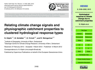 Relating Climate Change Signals and Phys... by Köplin, N.