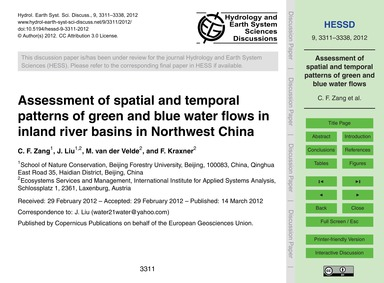 Assessment of Spatial and Temporal Patte... by Zang, C. F.