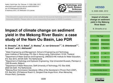 Impact of Climate Change on Sediment Yie... by Shrestha, B.