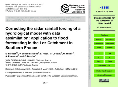 Correcting the Radar Rainfall Forcing of... by Harader, E.