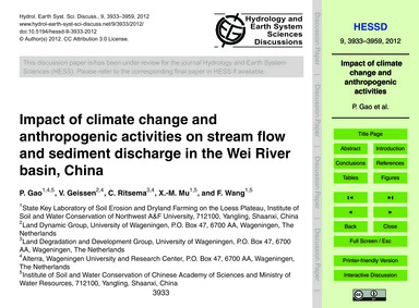 Impact of Climate Change and Anthropogen... by Gao, P.