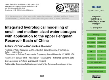 Integrated Hydrological Modelling of Sma... by Zhang, C.