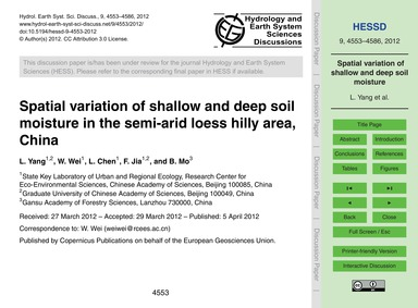 Spatial Variation of Shallow and Deep So... by Yang, L.