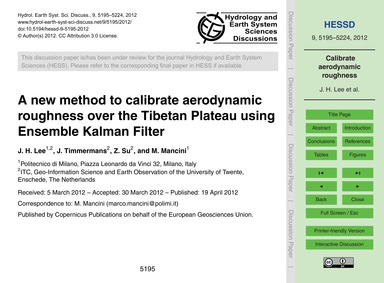 A New Method to Calibrate Aerodynamic Ro... by Lee, J. H.