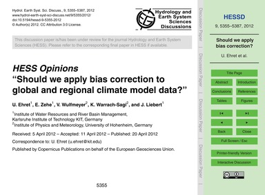 Hess Opinions Should We Apply Bias Corre... by Ehret, U.