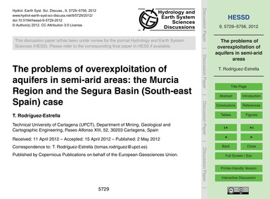 The Problems of Overexploitation of Aqui... by Rodríguez-estrella, T.