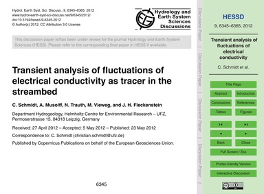 Transient Analysis of Fluctuations of El... by Schmidt, C.