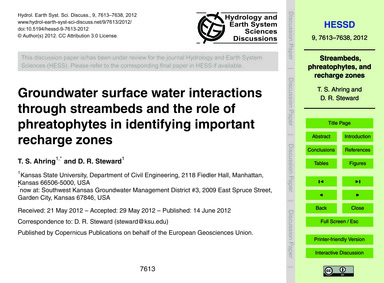 Groundwater Surface Water Interactions T... by Ahring, T. S.