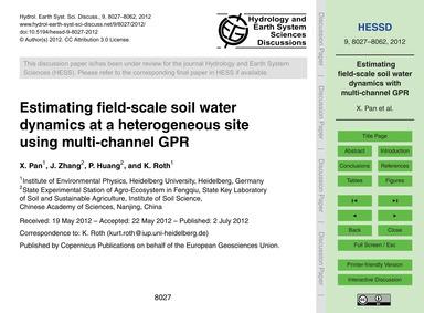 Estimating Field-scale Soil Water Dynami... by Pan, X.