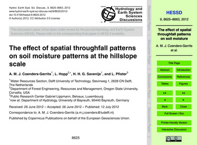 The Effect of Spatial Throughfall Patter... by Coenders-gerrits, A. M. J.