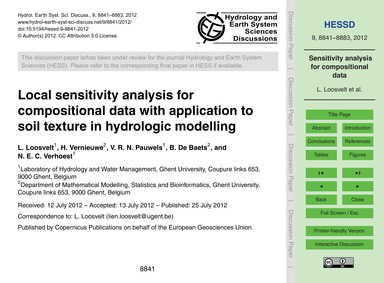 Local Sensitivity Analysis for Compositi... by Loosvelt, L.