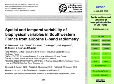Spatial and Temporal Variability of Biop... by Zakharova, E.
