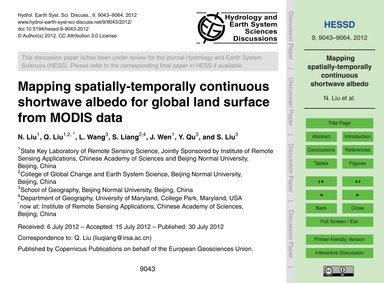 Mapping Spatially-temporally Continuous ... by Liu, N.