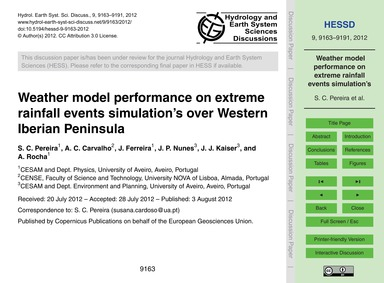Weather Model Performance on Extreme Rai... by Pereira, S. C.
