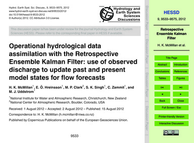 Operational Hydrological Data Assimilati... by McMillan, H. K.