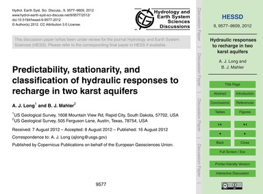Predictability, Stationarity, and Classi... by Long, A. J.