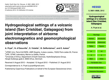 Hydrogeological Settings of a Volcanic I... by Pryet, A.