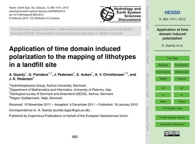 Application of Time Domain Induced Polar... by Gazoty, A.
