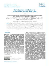 Early Japanese Contributions to Space We... by Nishida, A.