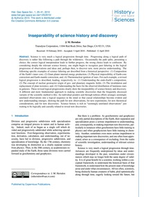Inseparability of Science History and Di... by Herndon, J. M.