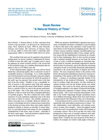 Book Review a Natural History of Time : ... by Taylor, K. L.