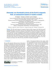 Alexander Von Humboldt's Charts of the E... by Mandea, M.