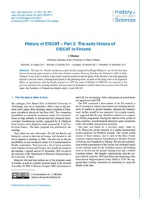 History of Eiscat – Part 2: the Early Hi... by Oksman, J.