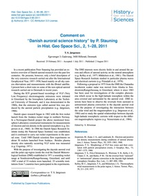 Comment on Danish Auroral Science Histor... by Jørgensen, T. S.