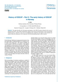 History of Eiscat – Part 3: the Early Hi... by Holt, O.
