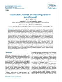 Sophus Peter Tromholt: an Outstanding Pi... by Moss, K.