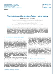 The Chatanika and Sondrestrom Radars – a... by McCready, M. A.