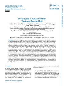 27-day Cycles in Human Mortality: Traute... by Halberg, F.