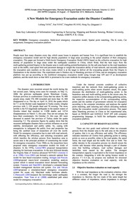 A New Models for Emergency Evacuation Un... by Tang, L.