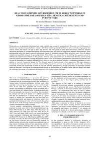 Real Time Semantic Interoperability in A... by Mostafavi, M. A.
