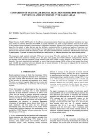 Comparison of Multi-scale Digital Elevat... by B. Harris