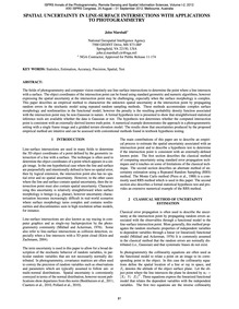 Spatial Uncertainty in Line-surface Inte... by J. Marshall