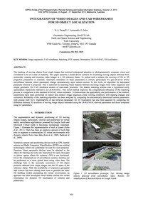 Integration of Video Images and Cad Wire... by Persad, R. A.