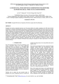 A Geospatial Web Services Composition Fr... by You, L.