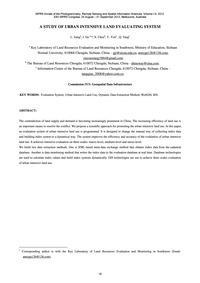 A Study of Urban Intensive Land Evaluati... by Jiang, L.