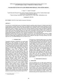 Validation Study on Alos Prism Dsm Mosai... by Tadono, T.